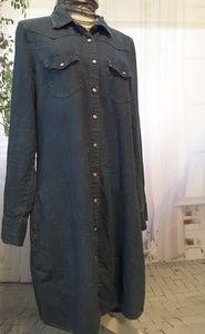 Gap 1969 denim Western blue jean dress size L